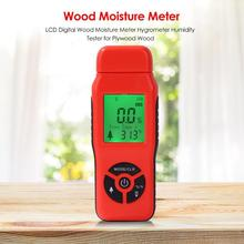 Moisture Meter Humidity Tester Timber LCD Digital Wood Moisture Meter Hygrometer Humidity Tester for Plywood Wood New mastech ms6508 thermo hygrometer digital temperature humidity moisture meter tester thermometer moisture meter moisture meter
