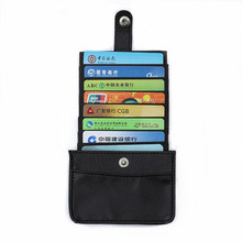 Pull Smart Wallet Men Wallets Leather Money Bag Credit Card Holders Dollar Bill Clutch Purse