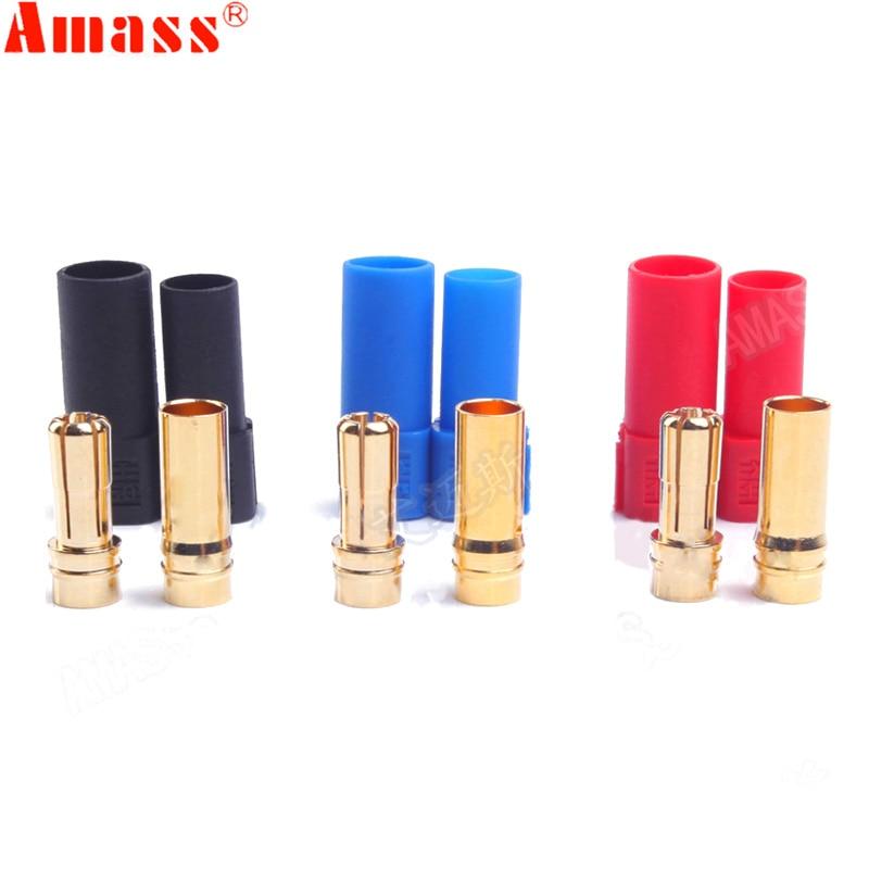 9 Pair AMASS XT150 Connector Adapter Male Female Plug 6mm Gold Banana Bullet Plug