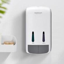 Dozownik do mydła w płynie łazienka naścienny 400ml zamykany szampon do rąk żel pod prysznic żel do mycia ciała dozowniki butelki na domowy hotel