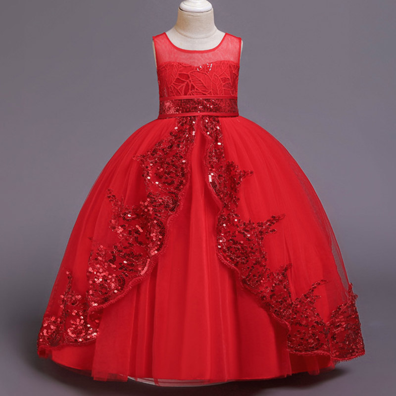 2019 Summer Princess Dress Girl Kids Dresses For Girls Children Clothes Formal Evening Party Maxi Wedding Dress 7 9 10 12 Years