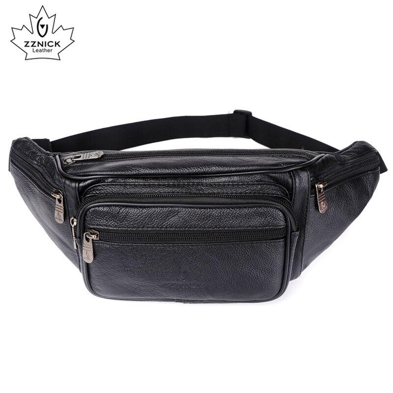 ZZNICK, 2020 натуральная кожа, Мужские поясные сумки, поясная сумка, сумка для телефона, сумки для путешествий, поясная сумка, Мужская маленькая поясная сумкаПоясные сумки   -