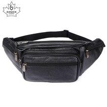 ZZNICK Packs de ceinture en cuir véritable pour hommes, sacs banane, sacoche de ceinture, sacoche pour téléphone, voyage, pochette de petite taille pour hommes, 2020