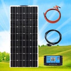 Flexible Solar Panel Kit Complete System 120 Watt 18v Controller 1000W Inverter 12v/24v Charging Batteries  of Car Yacht Boat