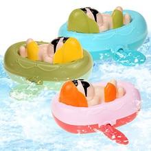 3PCS Wind Up Baby Bath Toy Bathtub Swimming Pool Funny Water Toy Clockwork Cute Rowing Cartoon Animal Bathing Toys For Baby Kid