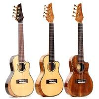 24inch Concert Ukulele Thin body Bevel Veneer Spruce panel Ukulele 4 Strings mini Guitar Hawaii Guitar Musical Instrument UK2338