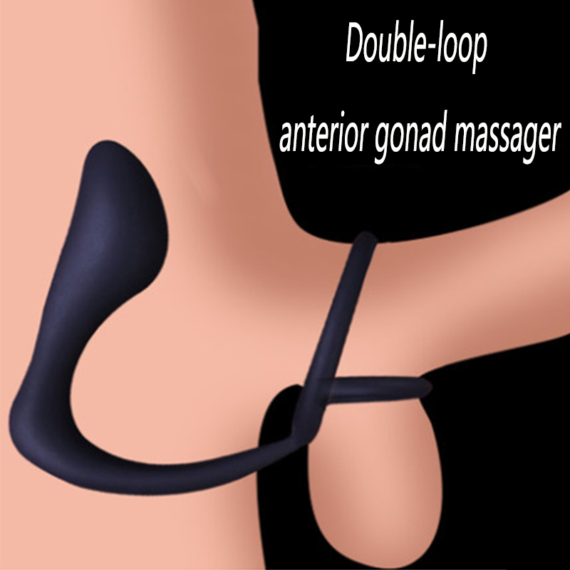 Male Waterproof Silicone Anal Plug Prostate Massager Cock Ring Anal Vibrator Butt Plug Anal Stimulator Erotic Delay Sex Toys