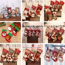 2021 New Year 1pc Christmas stocking/sugar/Gifts/ Xmas DIY Noel Christmas Decorations for Home Ornaments Navidad Decor Garland