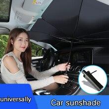 Katlanabilir araç ön camı güneş gölge şemsiye araba UV kapak güneşlik ısı yalıtımı ön pencere İç koruma aksesuarları