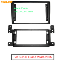 "FEELDO Car Radio Audio 9"" Big Screen 2DIN Fascia Frame Adapter For SUZUKI GRAND VITARA DVD Player Dash Fitting Panel Frame Kit"