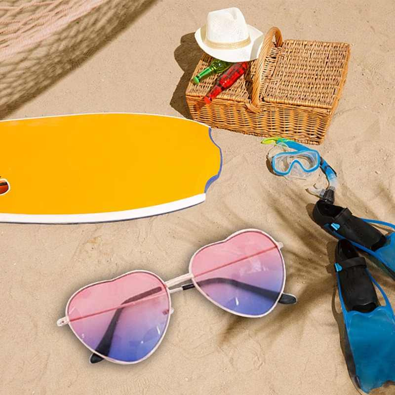 Gafas de sol de corazón de amor de marca Retro para mujer Gafas de sol rojo amarillo Rosa Gafas para mujer Gafas Vintage UV400