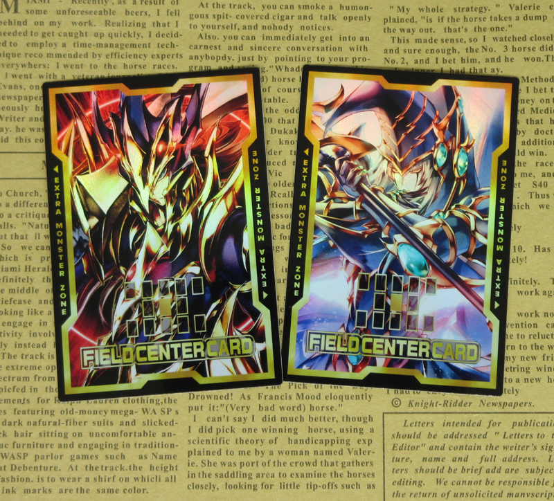 2pcs/set Black Luster Soldier Dark Paladin Field Center Cards Yugi Muto Classic Magician Swordman Yugioh Foil Proxy Orica Card