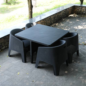 Frame Indoor-And-Outdoor-Use Good No for Rattan-Garden-Patio-4-Seater-Resin-Non-Metallic