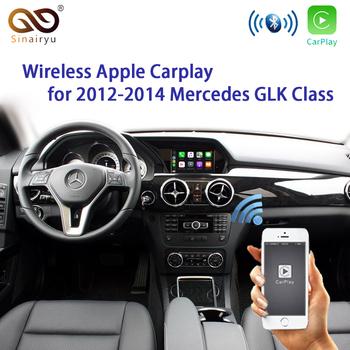 Sinairyu na rynku wtórnym WIFI bezprzewodowy Apple Carplay modernizacji G GL GLA GLK Class 2011-15 dla Mercedes NTG4 5 4 7 z kamerą cofania tanie i dobre opinie CN (pochodzenie) 0 78kg Wireless OEM Apple Carplay Retrofit Srebrny 14 5cm*8 8cm*2 9cm 12 v YUDAI-2 30hz-70hz Aluminum 2011-2015 G GL GLA GLK Class