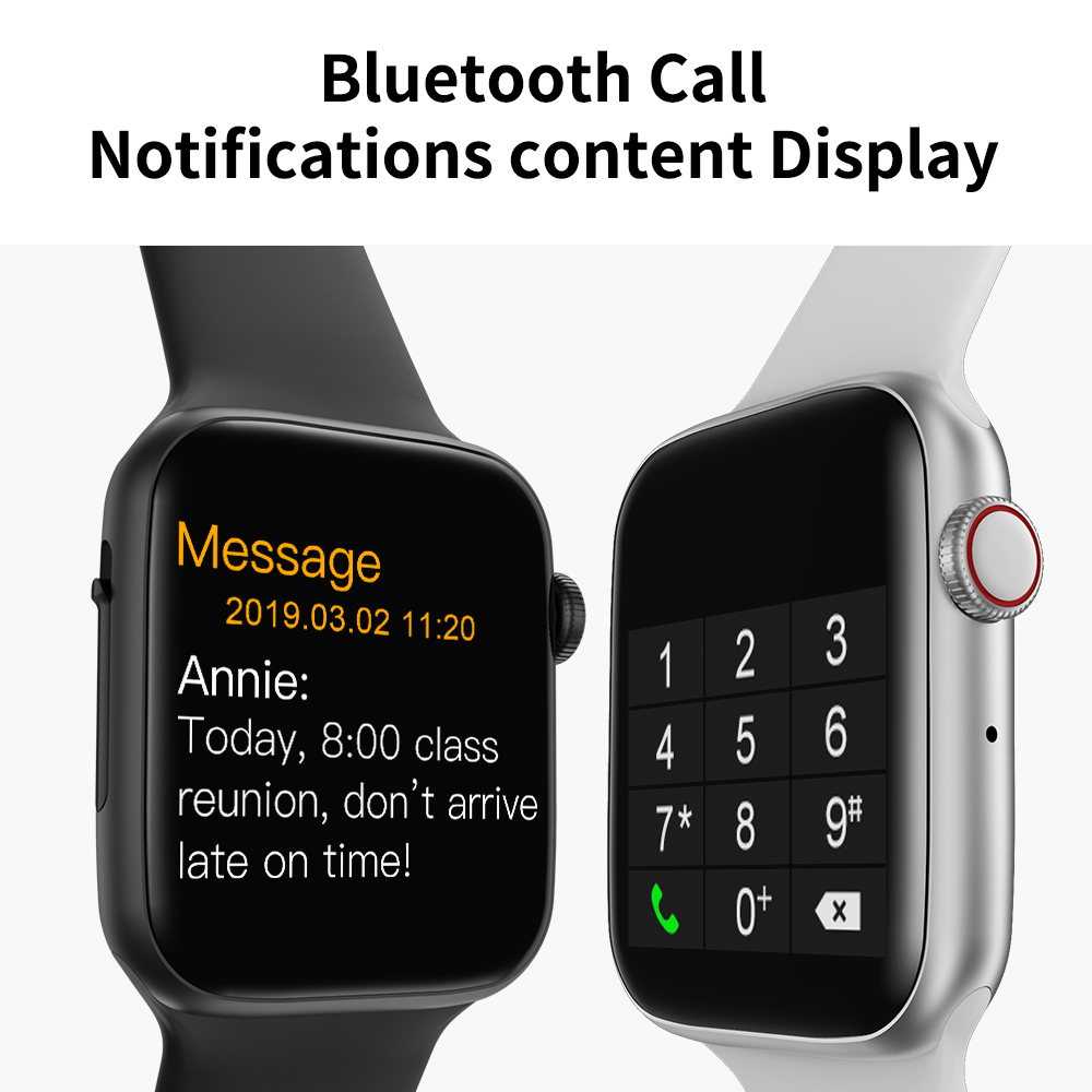 Timewolf 2020 W34 Bluetooth Smart Watch Series 5 Smartwatch Full Touch Screen Smart Watch For Android Phone Iphone Ios Apple