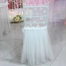 2 pieces/ lot Fancy romantic Tulle Dress Design Chiavari Chair Cap/ Chair Hood/Chair Cover for Wedding Decoration(China)