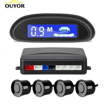 Car Auto Parktronic LED Parking Radar With 4 Parking Sensors Backup Car Parking Radar Monitor Detector System Backlight Display 1
