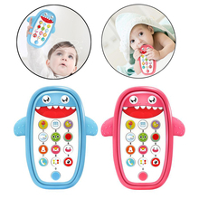 Cute Baby Intelligent Teething Phone Toy Adjustable Volume Educational Toys Baby Music Mobile Phone Toys 6 12 Months