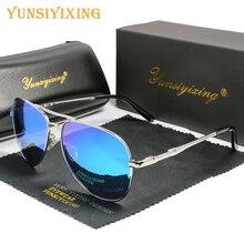 YSYX Vintage Polarized Lens Men's Sunglasses Brand Glasses Classic Pilot Fishing Sun Glasses Anti Blue ray sun protective 6121