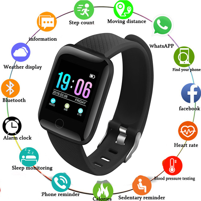 2020New Sports fashion electronic watches For Men Women kids Wristband IP67 Heart Rate Fit Bit bluetooth digital watch relogio