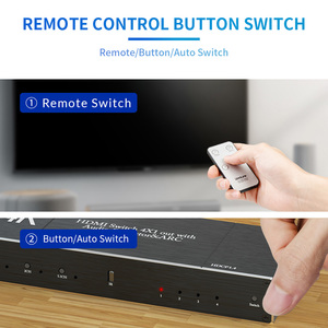 Image 4 - HDMI 2,0 Switcher 4K 60Hz 4X1 Splitter Matrix 4 IN 1 HERAUS SPDIF + 3,5mm Audio Extractor & ARC HDCP 2,2 Mit IR Fernbedienung HDMI Adapter