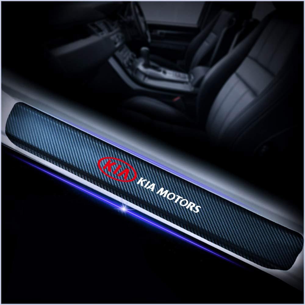 4Pcs Waterproof Carbon Fiber Door Sills Stickers For Kia Ceed Rio Sportage R K3 K4 K5 Ceed Sorento Cerato Optima Car Accessories