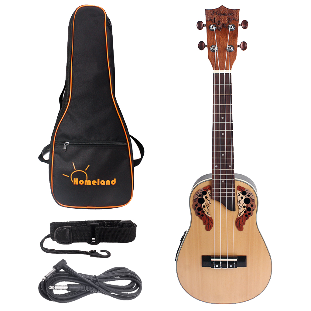 1 Set Spruce 23inch Ukelele Rosewood Fingerboard Bridge Built-in EQ