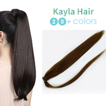 Kayla Ponytail Human Hair Remy Hair Extensions 100% Real Human Hair Extensions Clip Ins 14 18 24 Inch Natural Ponytails