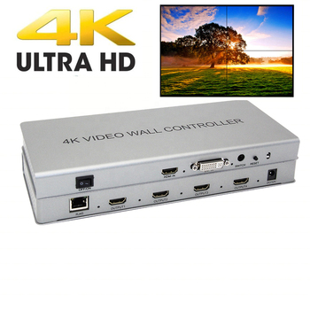 4K 2x2 Video wall controller 1 HDMI/DVI Input 4 HDMI Output 4K TV Processor Images Stitching Video Wall Processor eszym 4 channel tv video wall controller 2x2 1x3 1x2 hdmi dvi vga usb video processor