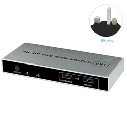 التوصيل والتشغيل مستقرة تحكم اتصال ثنائي المنفذ مفتاح ماكينة افتراضية معتمدة على النواة VGA ديسبلايبورت 1 خارج HDMI USB 4K 60Hz ماوس الكمبيوتر الدعم