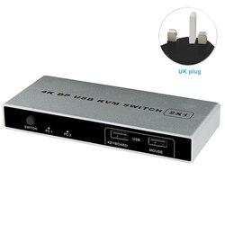 Macho y estable controlador conexión puerto dual KVM Switch VGA Displayport 1 HDMI USB 4K 60Hz ratón de la computadora de apoyo