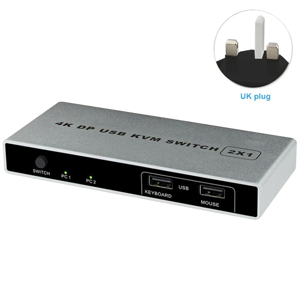Plug And Play Stable Controller Connection Dual Port KVM Switch VGA Displayport 1 Out HDMI USB 4K 60Hz Computer Mouse Support