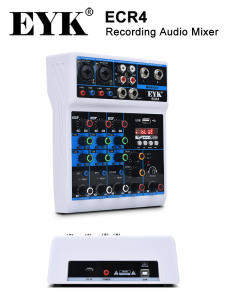 EYK Audio-Mixer Sound-Card Stereo-Mixing-Console Bluetooth-Usb 4-Channel Portable