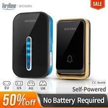ZOGIN Wireless Doorbell Smart Door Bell Home Waterproof Cordless Ring Dong Chime House Call 220V timbre casa calling button