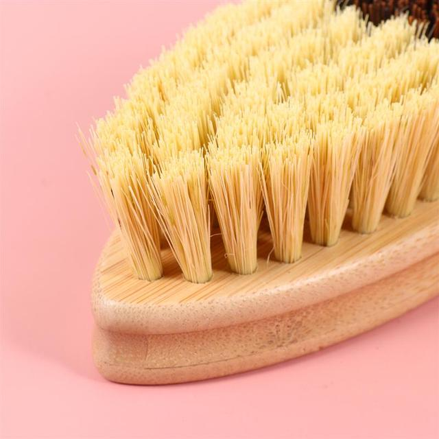 Wooden Sisal Hemp Brush Oilproof Cleaning Brush Pot Pan Dish Scrubber Kitchen Utensil Cleaner Bathroom Cleaning Tool 4