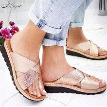 Mhysa 2020 New Summer Sandals Women Slippers Flat Comfortable Women San