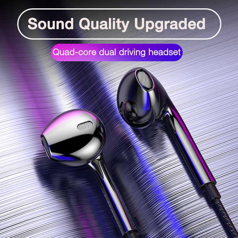 EARDECO Quad-core Mobile filaire casque 3.5 Sport écouteurs avec basse téléphone écouteur fil stéréo casque micro musique écouteurs