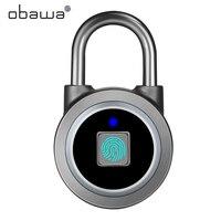 Obawa inteligente impressão digital cadeado keyless recarregável para casa bagagem dormitório armário armazém porta à prova dwaterproof água fechadura eletrônica