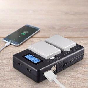 Image 5 - PALO LPE5 LP E5 LP E5 chargeur de batterie LCD double fente USB chargeur pour Canon EOS 450D 500D 1000D baiser X3 baiser F rebelle Xsi caméra