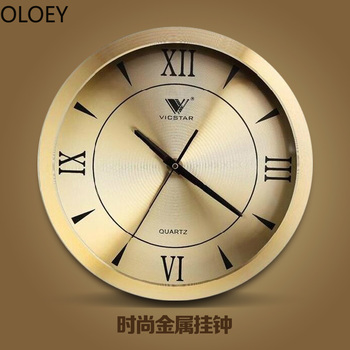 Retro Large Wall Clock Luxury Gold Metal Silent Living Room Bedroom Wall Watches Home Decor Reloj De Pared Kitchen Office Clocks Buy At The Price Of 47 37 In Aliexpress Com Imall Com
