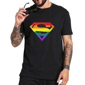 Супер квир футболки для мужчин Радуга, гей Прайд лесбиянок LGBTQ ЛГБТ размера плюс одежда короткий рукав Футболка с круглым вырезом хлопковые ...