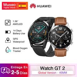 Смарт-часы Huawei GT 2 GT2, трекер кислорода в крови, Bluetooth5.1, Смарт-часы с функцией звонка, пульсометр, 5 АТМ, водонепроницаемые