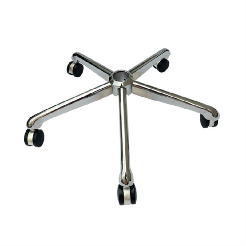 Steel Five-star Chair Foot Computer Office Chair Foot Base Chassis Swivel Chair Accessories With Gas Rod Furniture Accessories