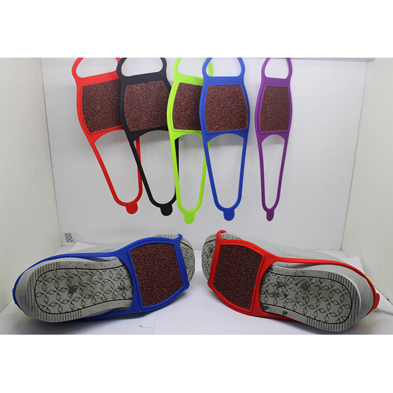 1pc Ski Non-slip Shoe Cover Silicone Double-sided Abrasive Cloth Crampons Outdoor Snow Non-slip Shoe Cover Random Color