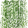 12pcs 2M Ivy green Fake Leaves Garland Plant Vine Foliage Home Decor Plastic Rattan string Wall Decor Artificial Plants 1