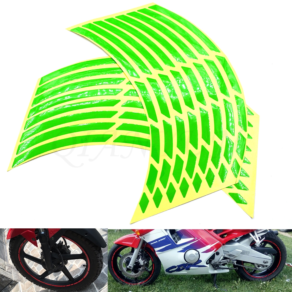 Universal Car Motorcycle Tire Sticker Reflective Strip Tape Decal For Kawasaki ZZR600 ZX6R ZX636R ZX6RR ZX9R ZX10R Z1000 ZX12R