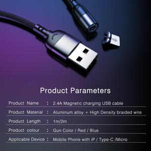 Image 3 - 2.4A Magnetische Micro Usb Type C Kabel Voor Iphone 11 Xiaomi Android Mobiele Telefoon Snel Opladen Usb Kabel Magneet Charger wire Cord