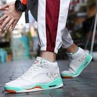Boys Basketball Shoes Jordan 5 Flame Boots Uptempo Retro 11 Men Jordan Shoes Outdoor Jordan Sneakers Zapatos Baloncesto Hombre