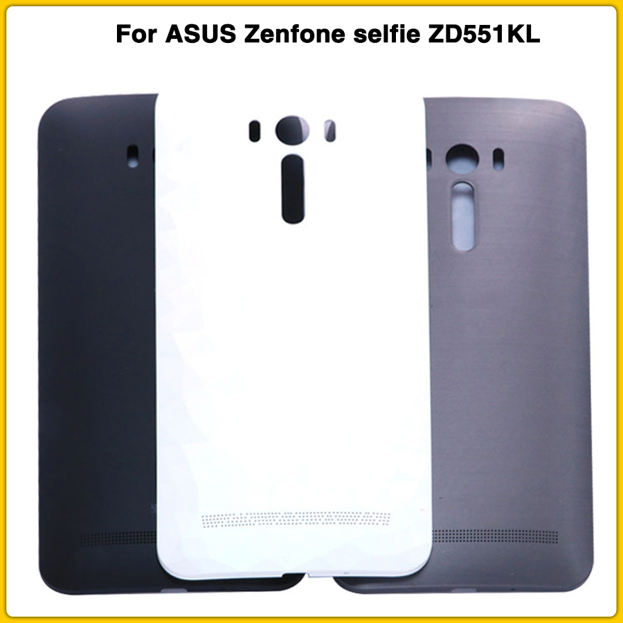 New ZD551KL Rear Housing Case For ASUS Zenfone Selfie ZD551KL Battery Back Cover Door Replacement With Side Button