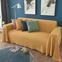Простой эластичный Полный диван пылезащитный чехол для дивана универсальные одноцветные диваны полотенца один/два/три/четыре-местный дома...